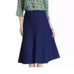 CAbi #3097 Navy Blue Textured Tulip Skirt, Tag 4
